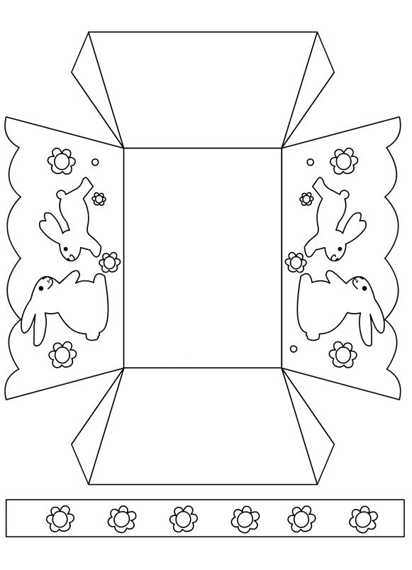 Printable Easter Box Template Cut and Color