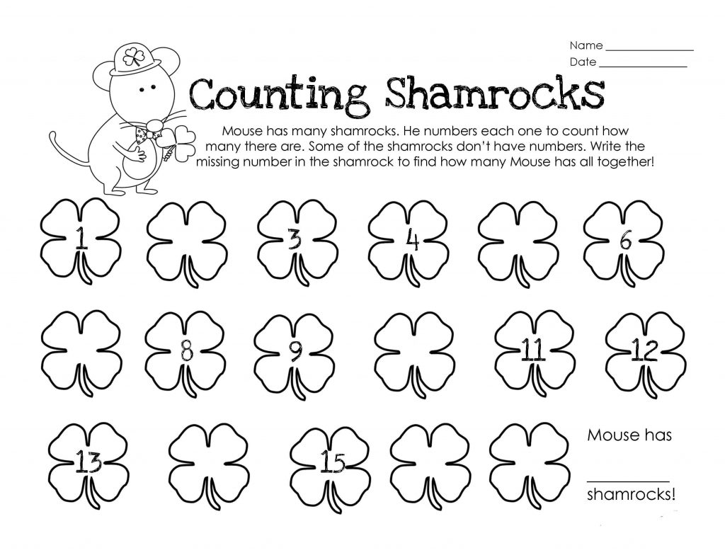 Printable St Patricks Day Worksheets