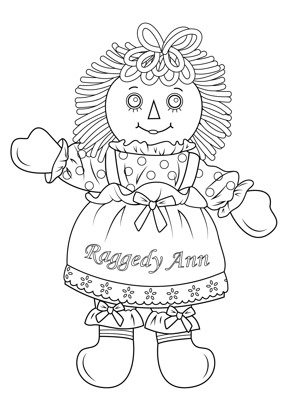 Doll Coloring Pages Best Coloring Pages For Kids