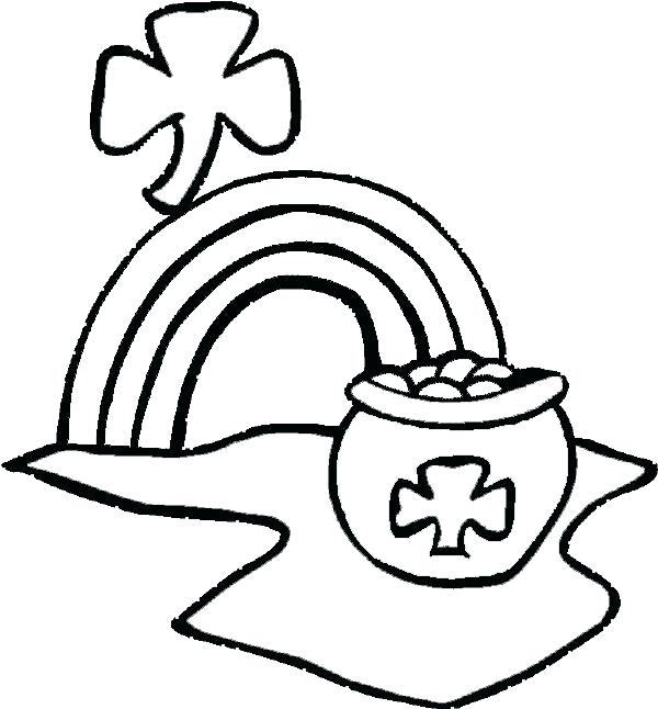Rainbow Pot of Gold Coloring Pages