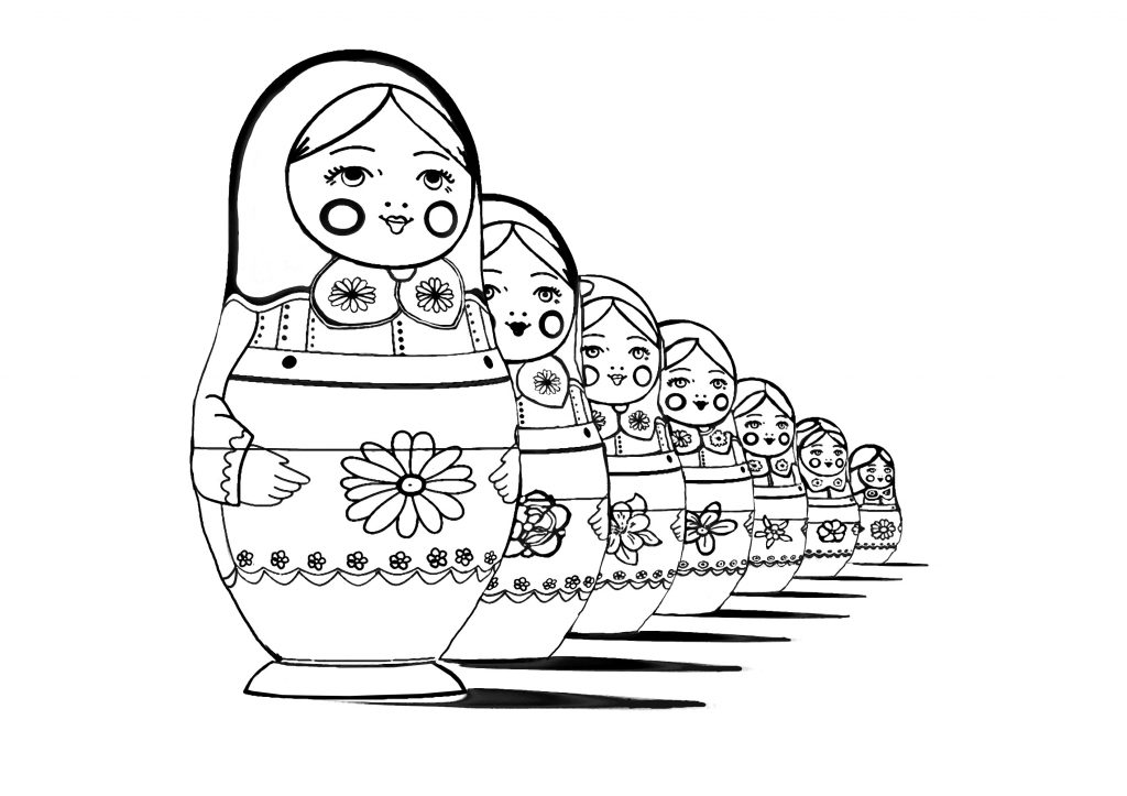 Russian Doll Coloring Page Printable