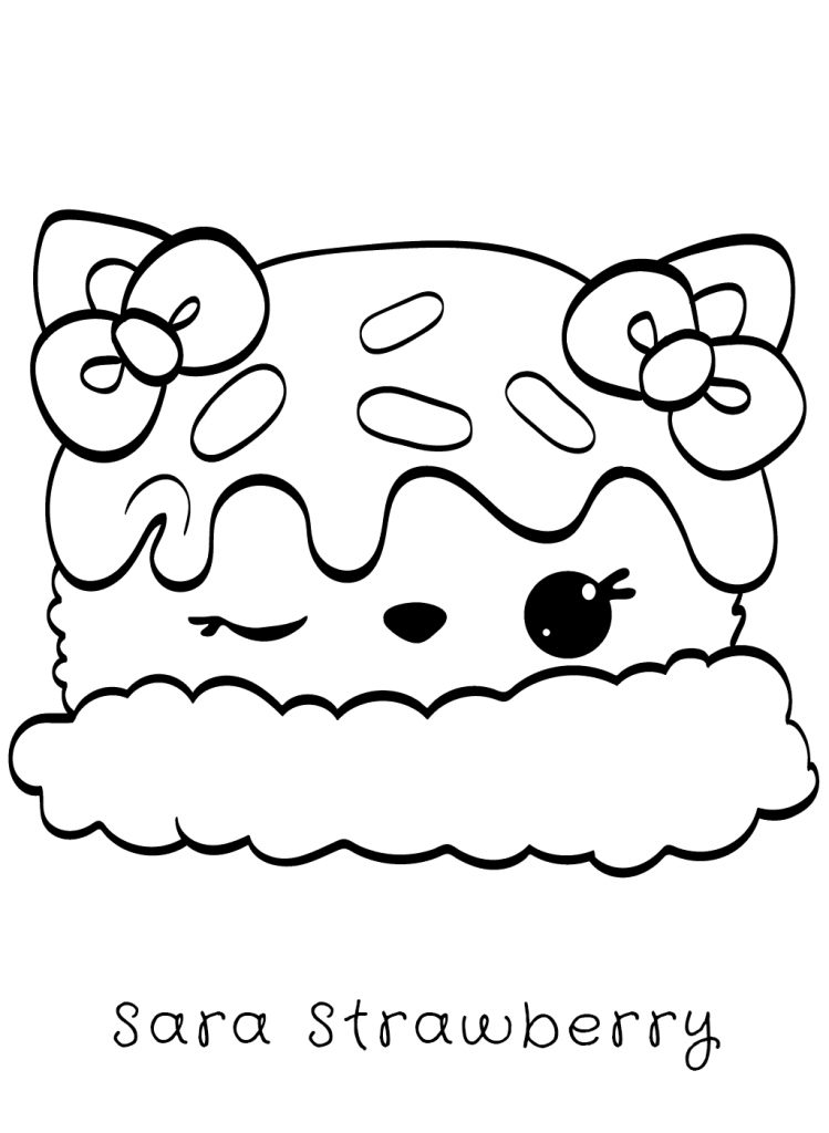 Sara Strawberry Num Noms Coloring Pages