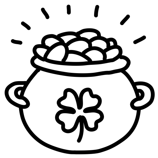 Shamrock Pot of Gold Coloring Page