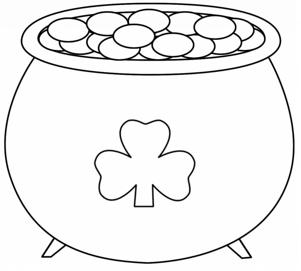 Shamrock Pot of Gold Coloring Pages