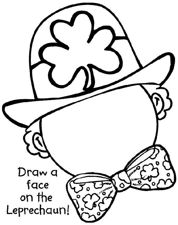 St Patricks Day Drawing Worksheet