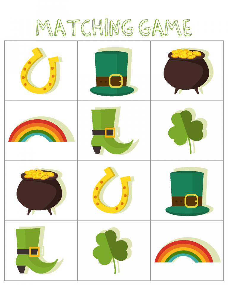 St Patricks Day Matching Puzzle