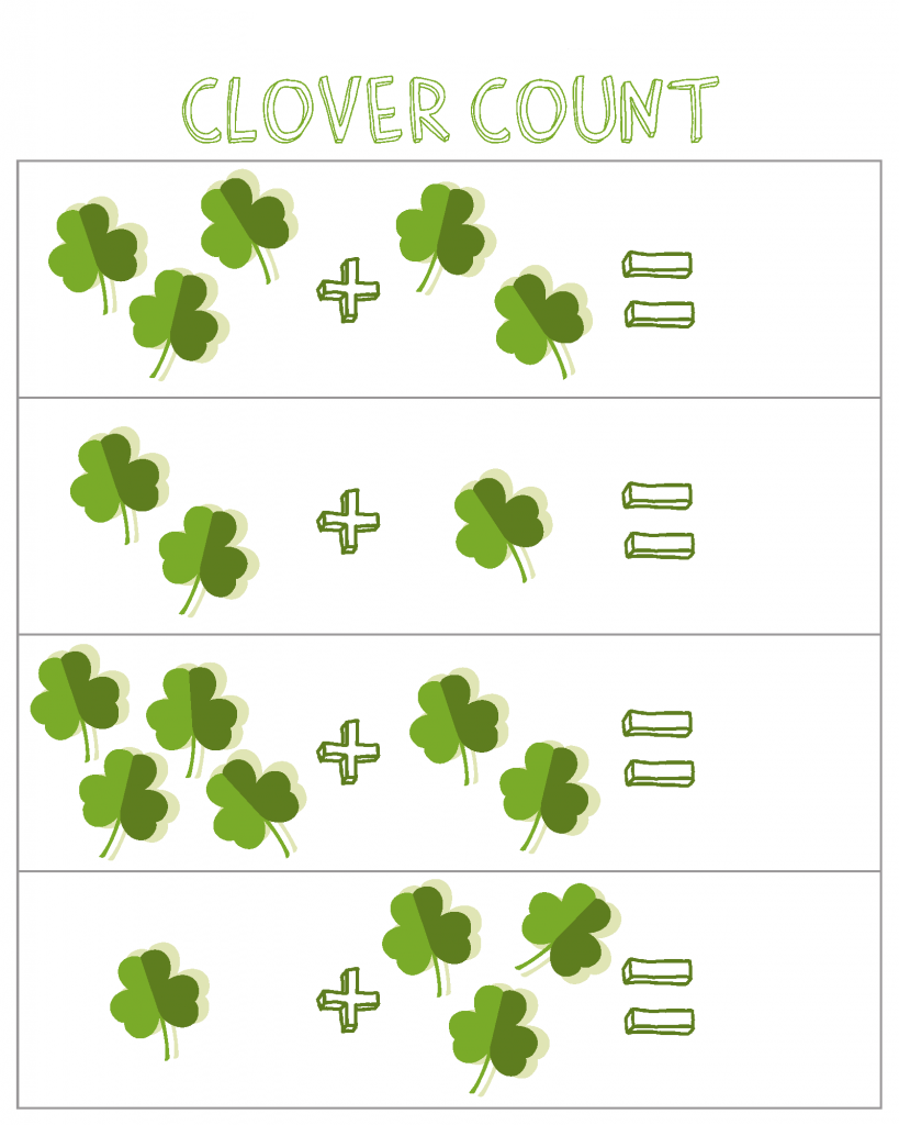 St Patricks Day Math Addition Worksheets
