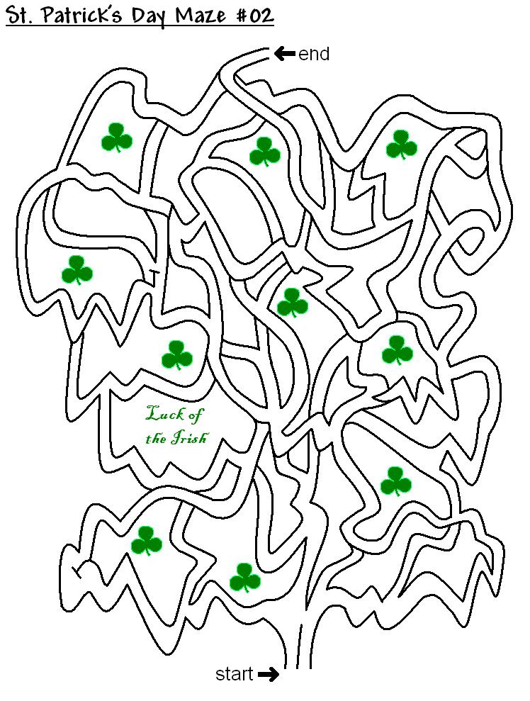 St Patricks Day Maze Puzzle