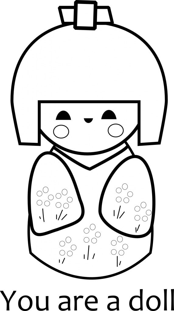 You are a Doll Coloring Page