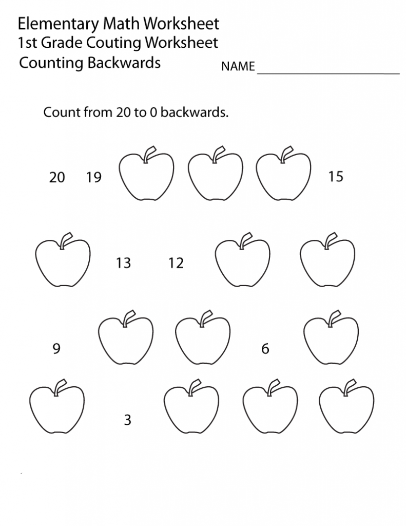1st Grade Counting Worksheet