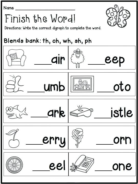 1st Grade English Worksheets
