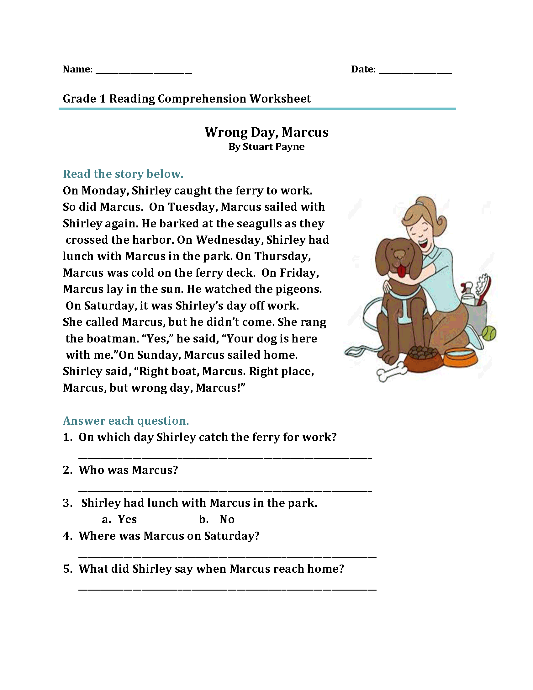 - 1st Grade Reading Worksheets - Best Coloring Pages For Kids