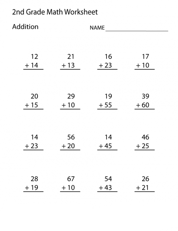 2nd Grade Addition Worksheets