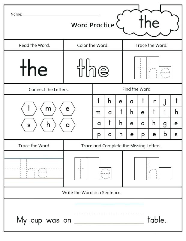 2nd Grade English Worksheet