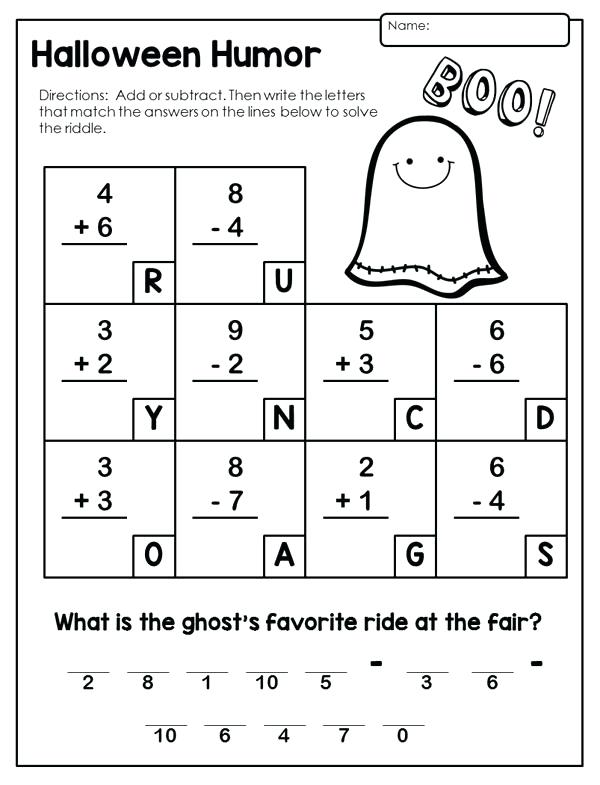 2nd Grade Halloween Worksheets