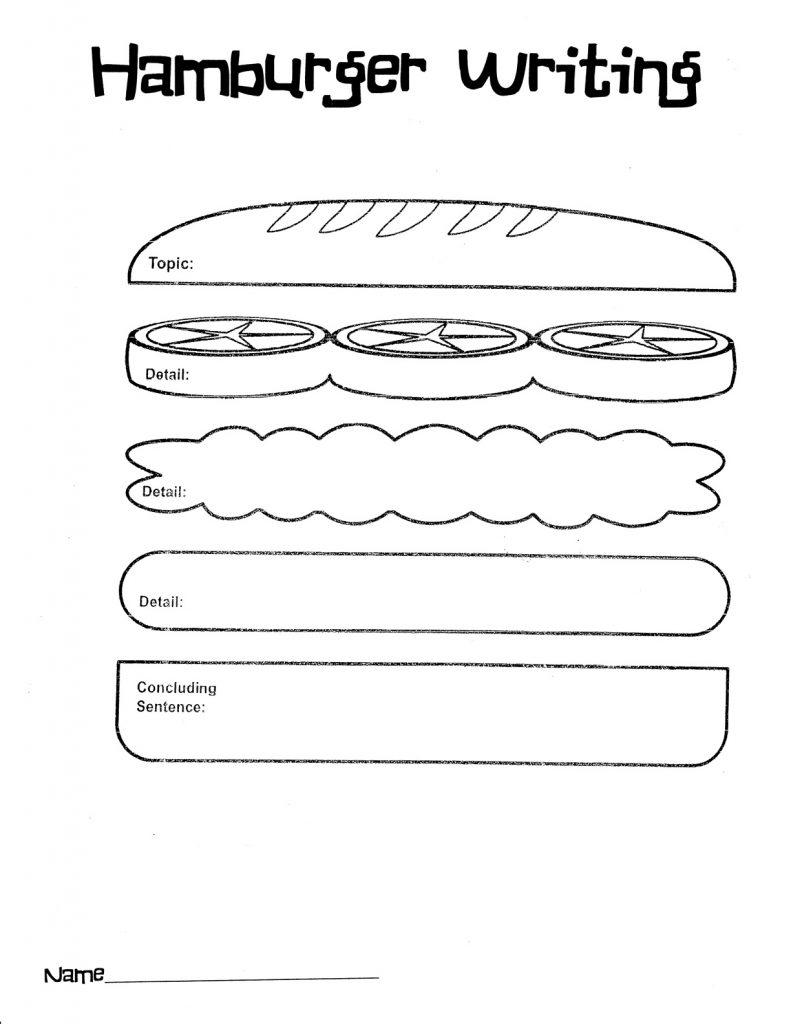 2nd Grade Hamburger Writing Worksheet