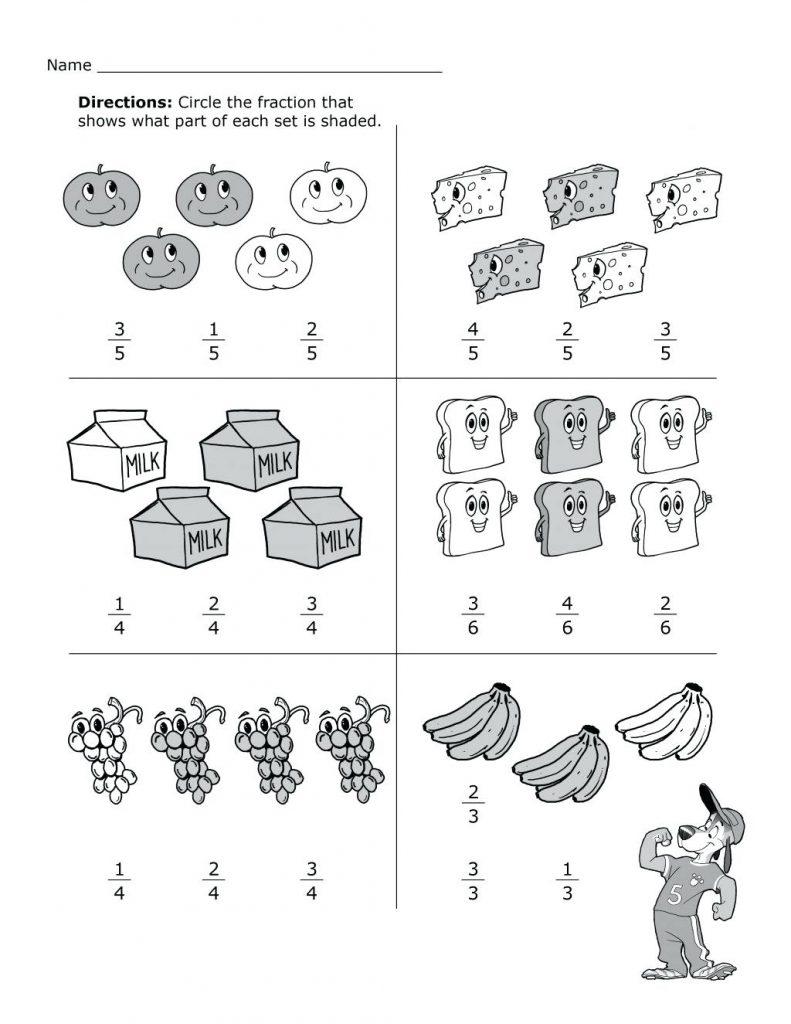 2nd Grade Math Fractions Worksheets