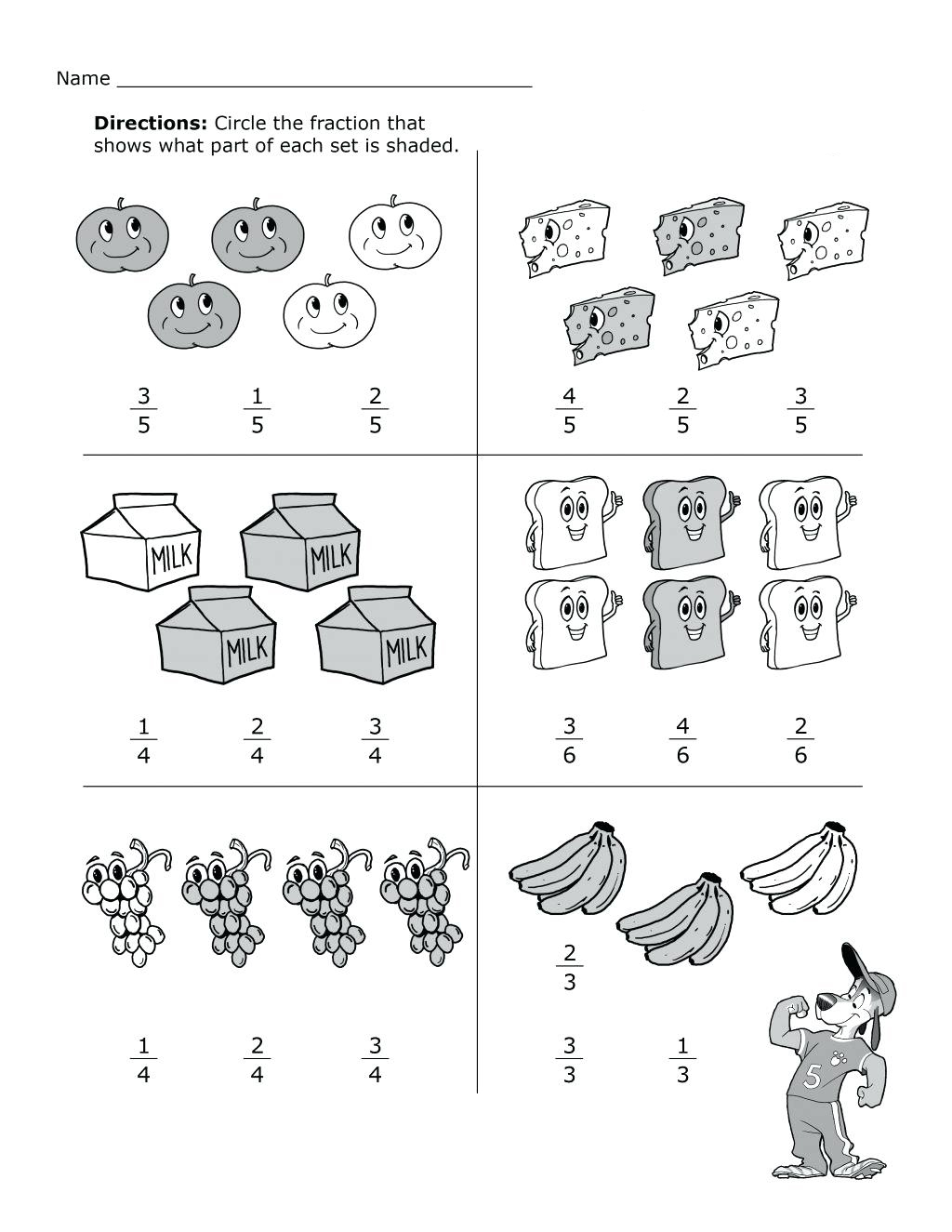 2nd-Grade-Math-Fractions-Worksheets Math Worksheets Second Grade Regrouping on printable 2nd grade no, double-digit subtraction, two digit,
