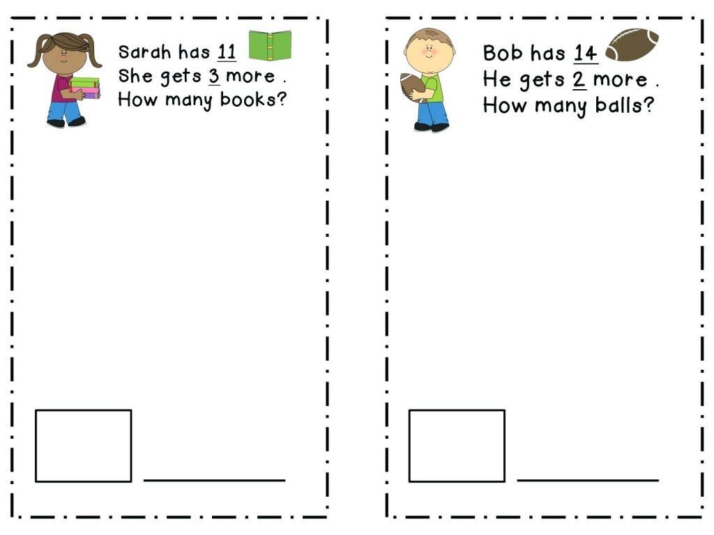 2nd Grade Math Word Problem Worksheet