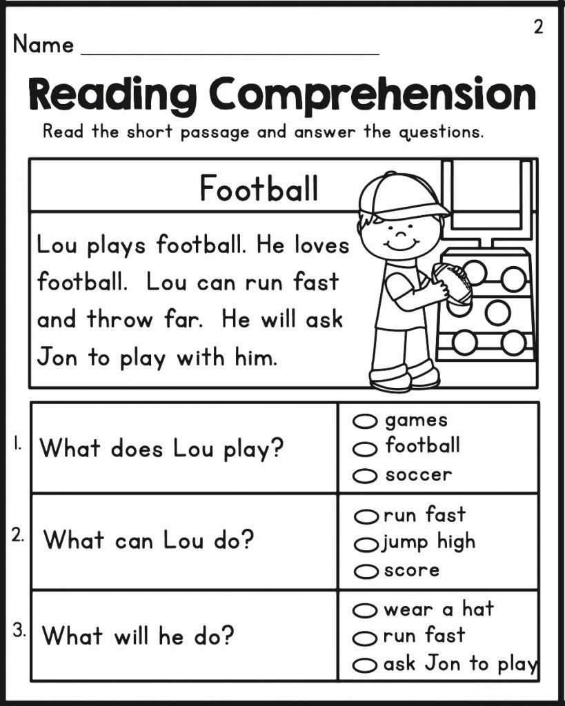 2nd Grade Reading Comprehension Worksheets