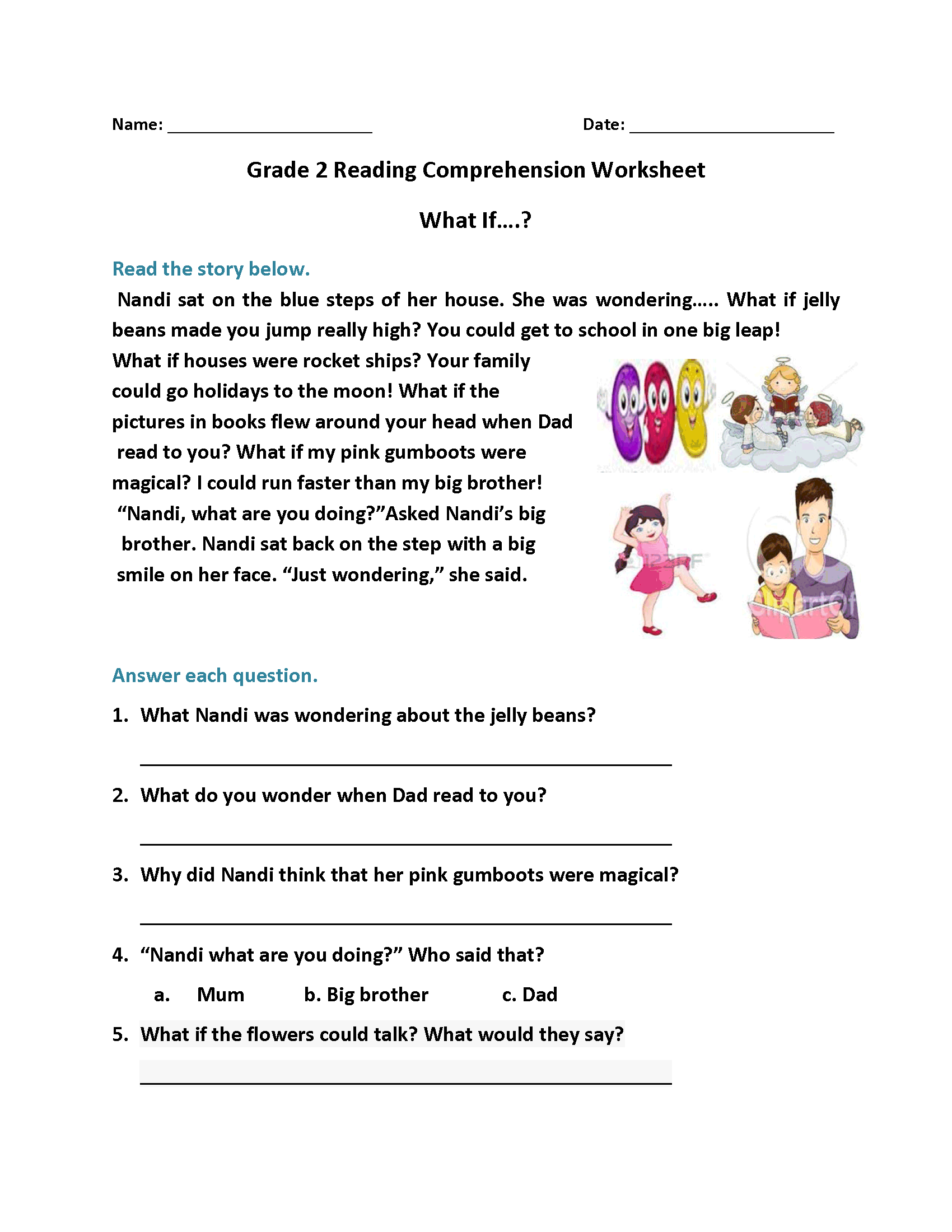 - 2nd Grade Reading Worksheets - Best Coloring Pages For Kids