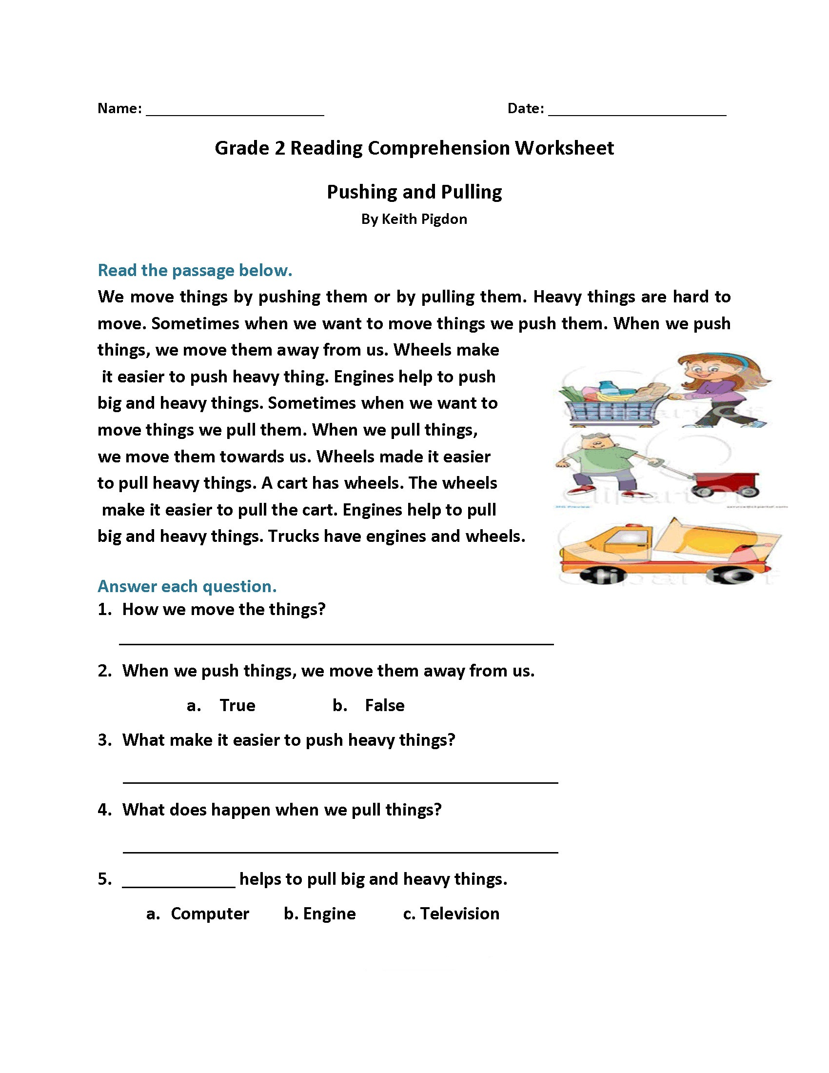 It is a picture of Lively 2nd Grade Reading Printable Worksheets