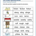 2nd Grade Spelling Worksheet with Pictures