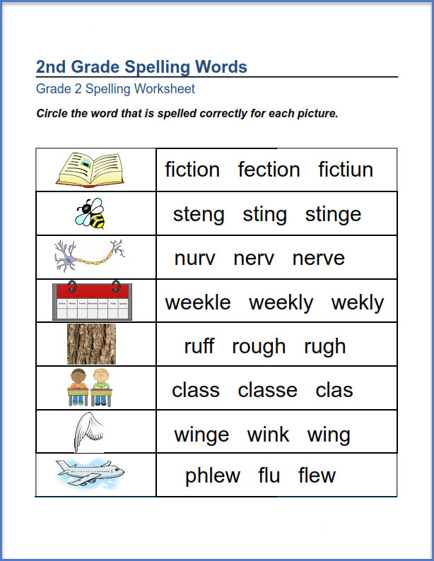 2nd Grade Spelling Worksheets - Best Coloring Pages For Kids
