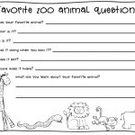 2nd Grade Writing Worksheet Zoo Animals