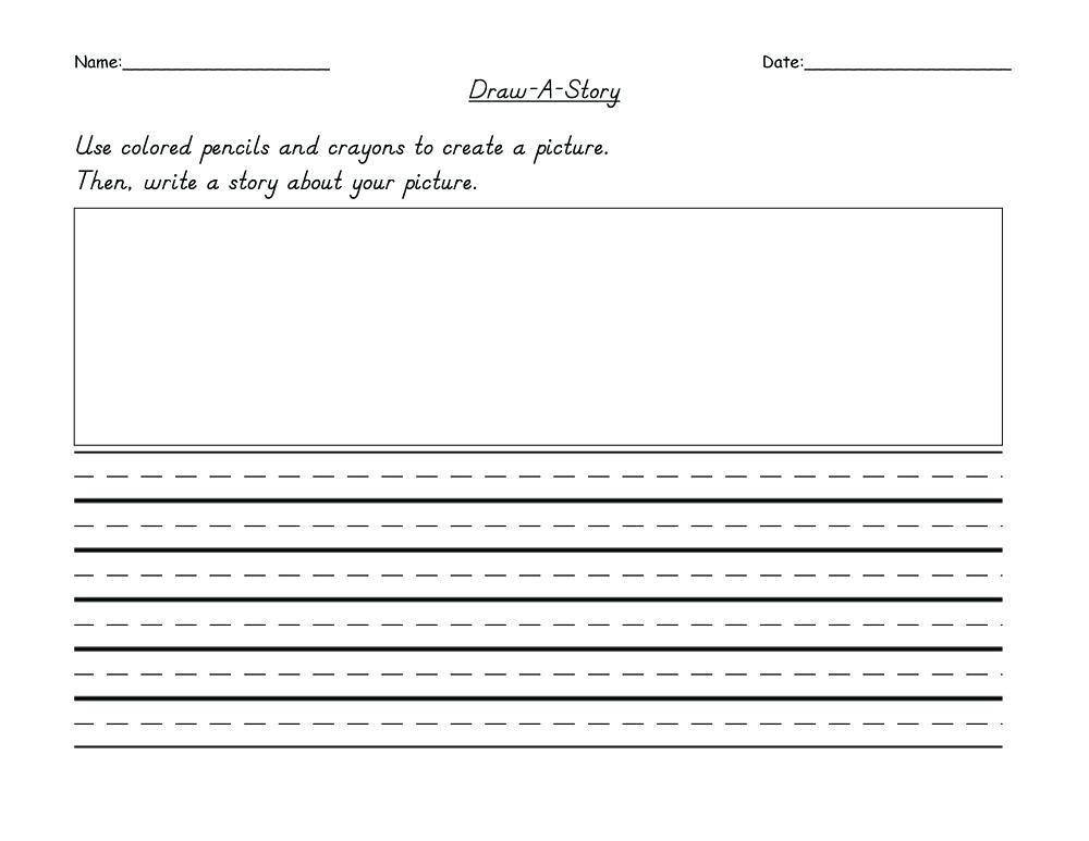 2nd Grade Writing and Drawing Worksheet
