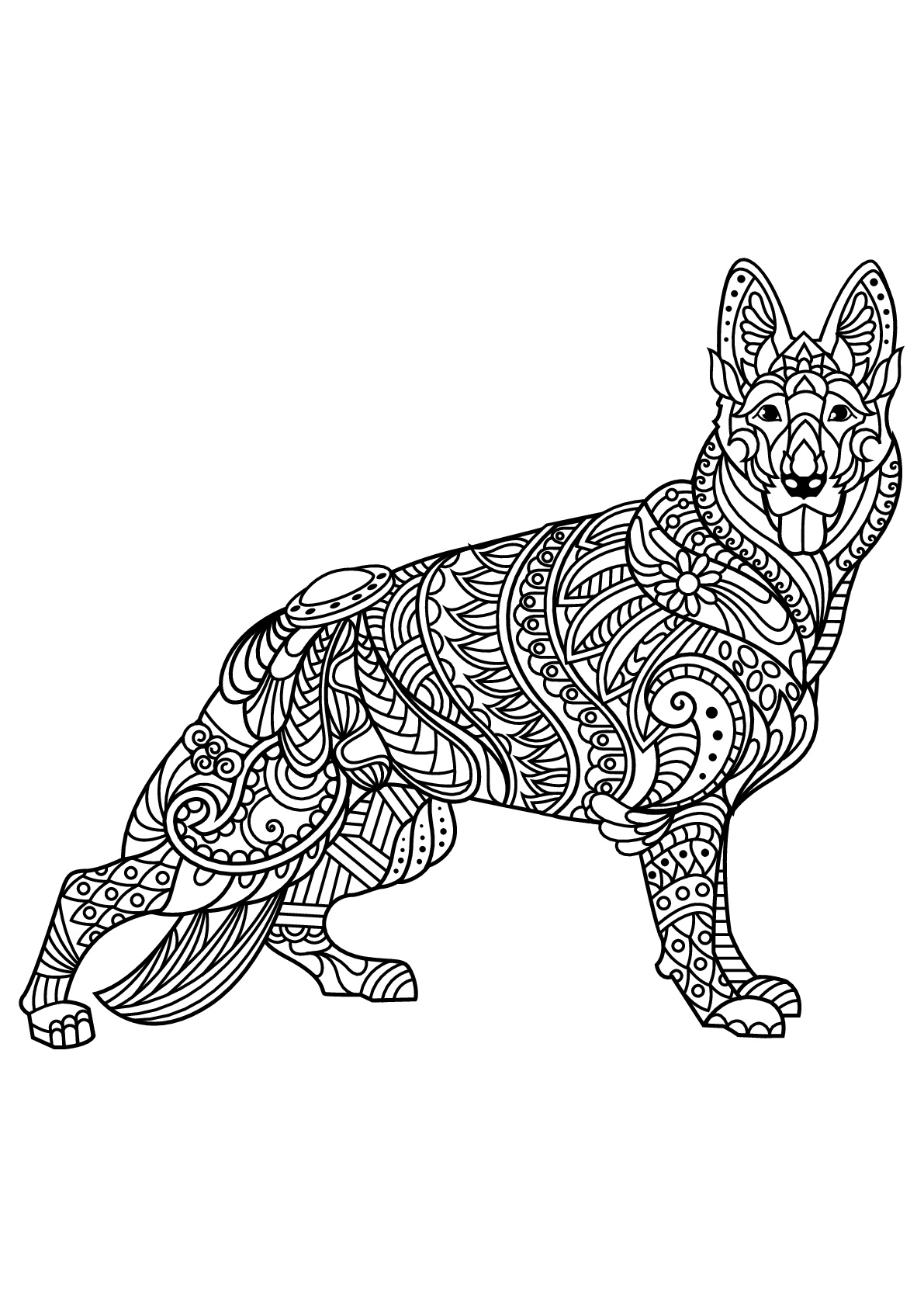 It's just a photo of Accomplished Adult Coloring Page Dog