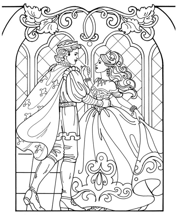 Advanced Barbie Princess Coloring Pages