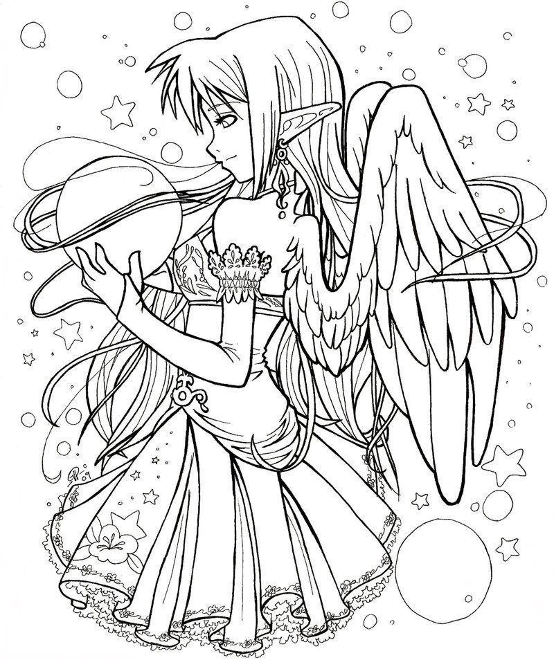Anime Fairy Adult Coloring Pages