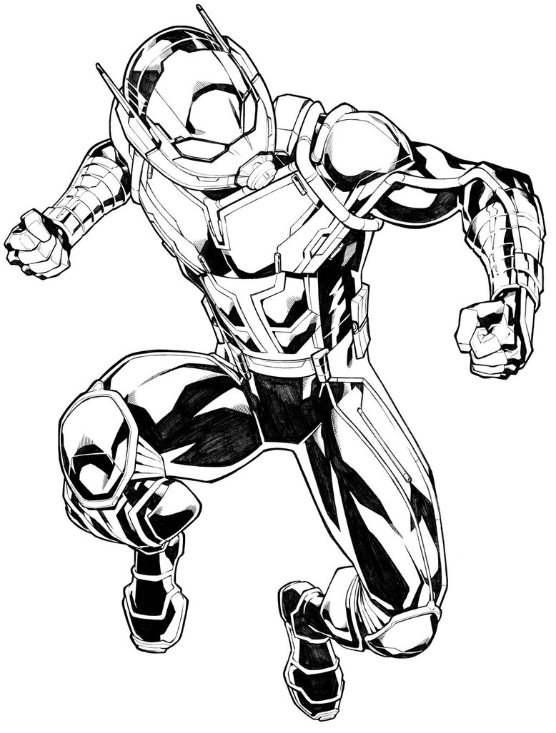 Ant Man Coloring Pages Best Coloring