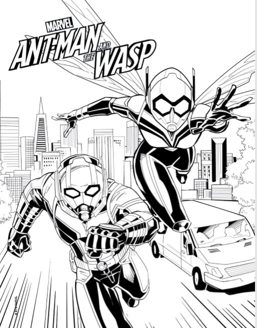 Ant Man and the Wasp Coloring Page