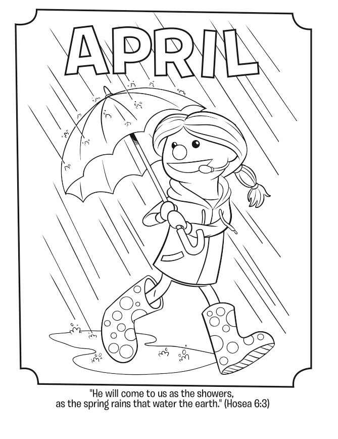 April Bible Quote Coloring Pages
