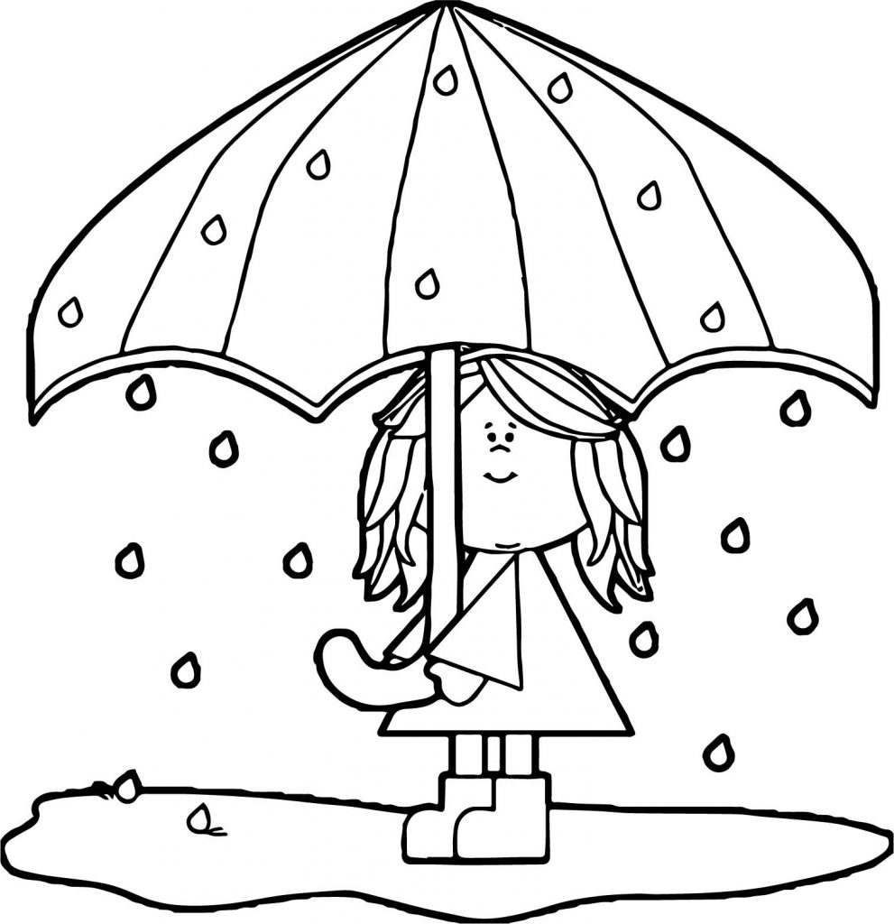 April Rain Coloring Pages