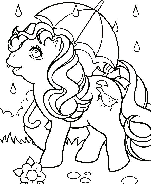 April Shower MLP Coloring Pages