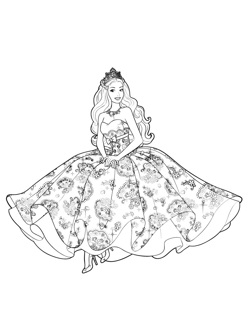 barbie princess coloring pages best coloring pages for kids. Black Bedroom Furniture Sets. Home Design Ideas