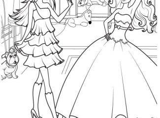 Barbie Princess Scene Coloring Page
