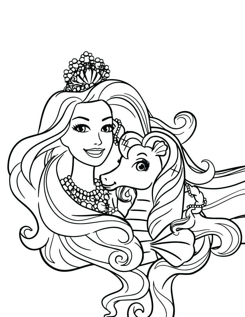 Remarkable Barbie Princess Coloring Pages – Slavyanka | 1060x820