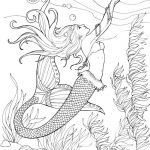 Beautiful Mermaid Coloring Pages for Adults