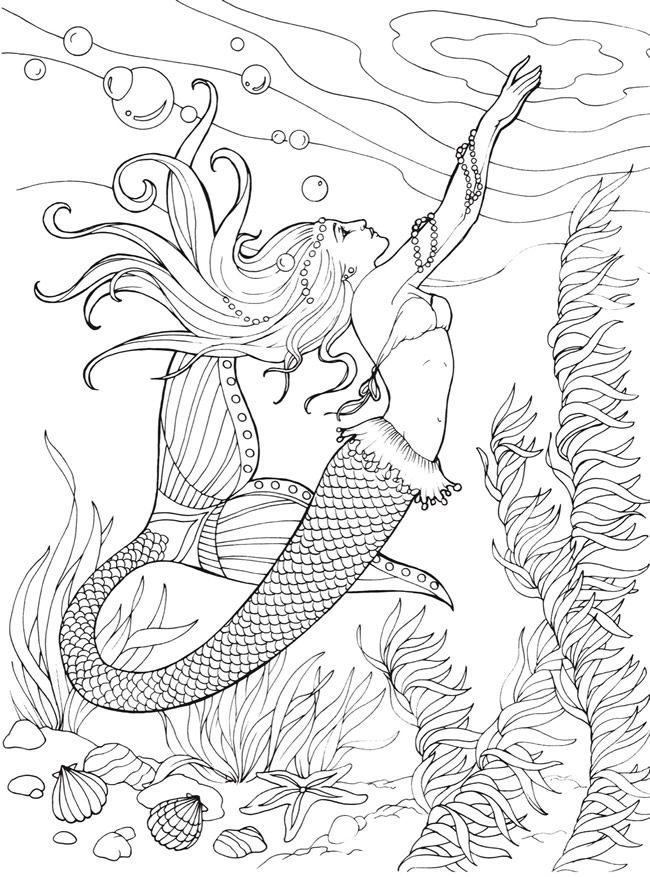 - Mermaid Coloring Pages For Adults - Best Coloring Pages For Kids