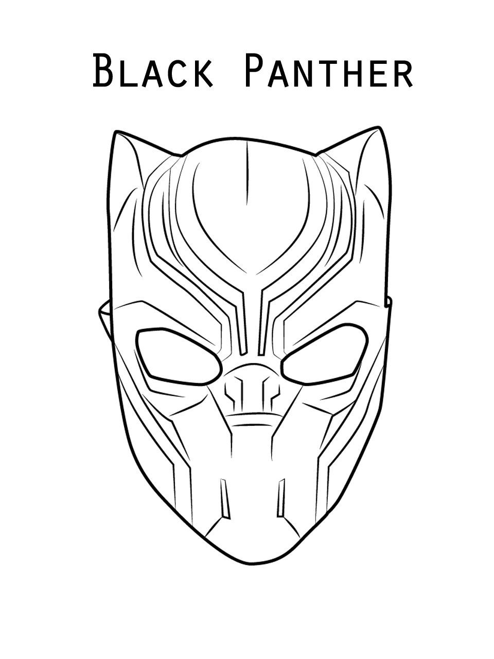 Black Panther Full Movie Sketch Easy Black Panther Drawing