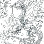 Butterfly Wing Dragon Adult Coloring Page