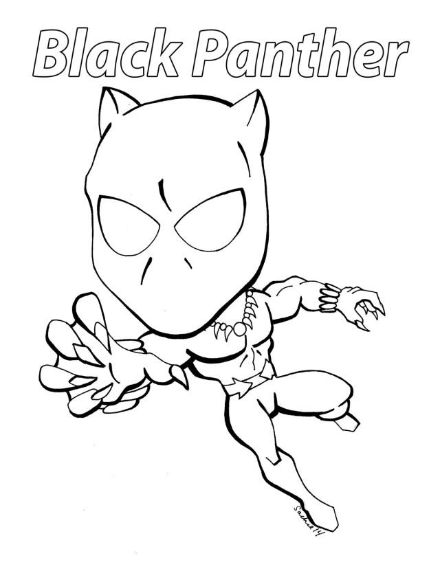 Cartoon Black Panther Coloring Page