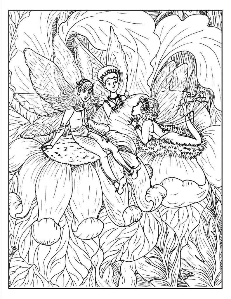 Detailed Fairy Adult Coloring Pages