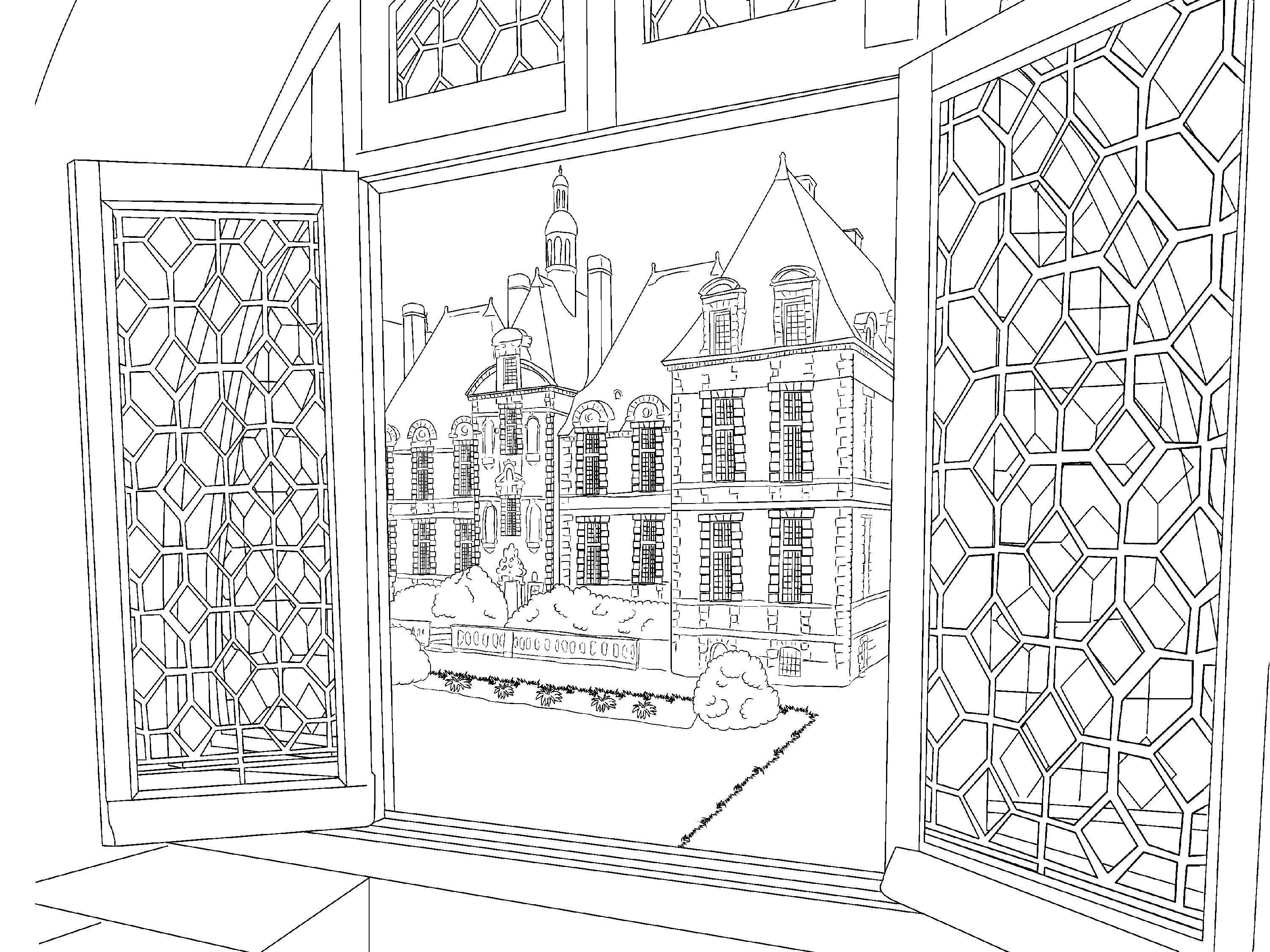 Scenery Coloring Pages For Adults Best Coloring Pages For Kids