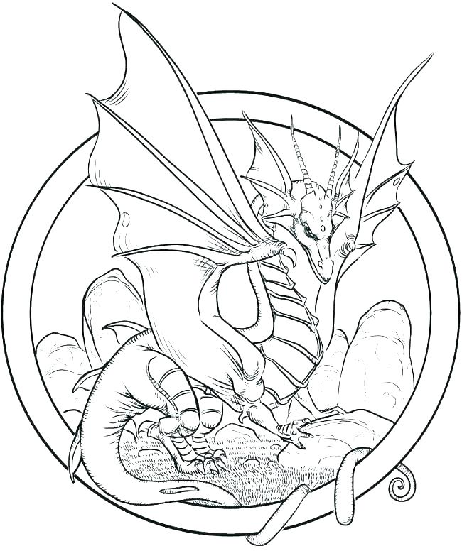 It is an image of Current Dragon Coloring Book