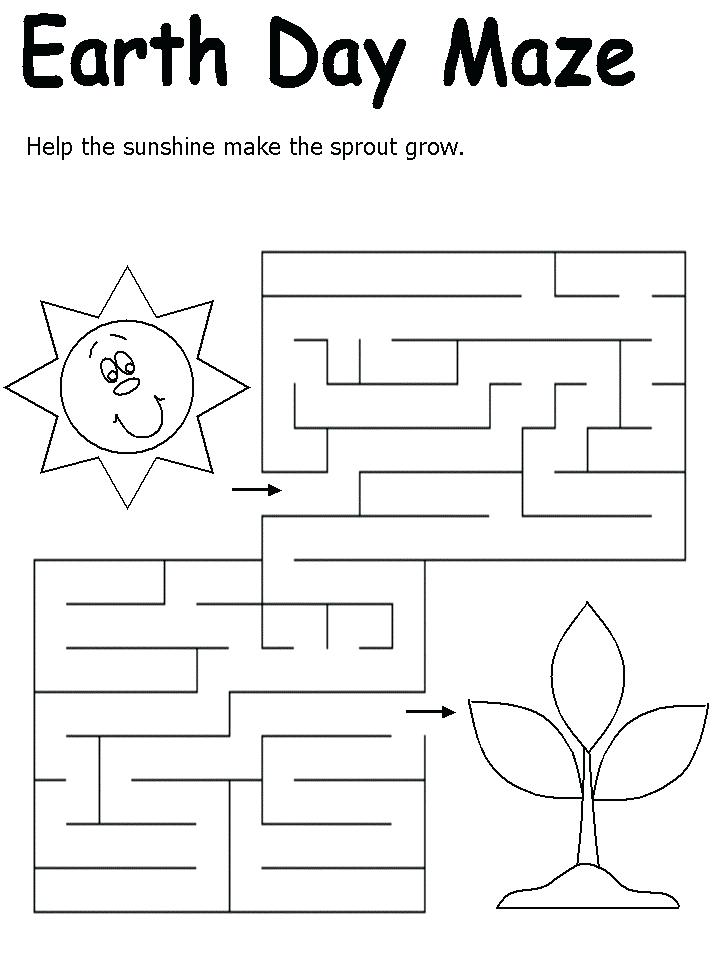Earth Day Maze Activity Sheet